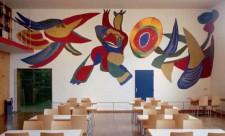 10. KAREL APPEL. wandschildering voormalig restaurant Stedelijk Museum, 1956, minerale verf glasappliqué, 482 x 1047 cm, schenking Theo van Gogh Stichting