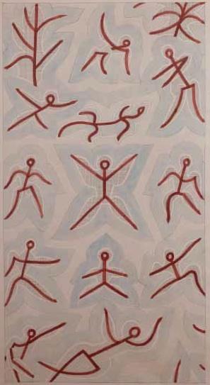 3. JOHANNES ITTEN, gesamtkomposition des Velus, Stedelijk Museum, 1938, potlood en aquarel op papier, 190 x 105,5 cm