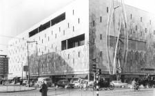 De Bijenkorf en de sculptuur van Gabo in 1961. Collectie Gemeentearchief Rotterdam