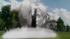 Het ontwerp van Jaume Plensa voor de fontein 'Love' in Leeuwarden