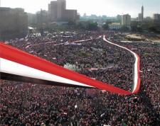 Friday of Victory, Tahrir Square, Cairo, 2011 (Photo by Lara Baladi).